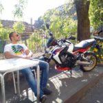 Paul créateur du site et sa Honda CB 650